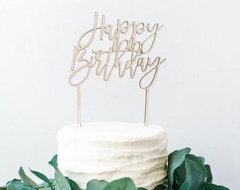 Happy Birthday topper | Happy Birthday cake topper | Custom cake topper | Wooden cake topper | Birthday cake | Birthday topper | Cake topper