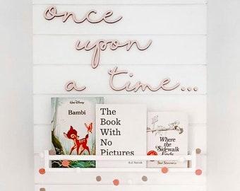 Once upon a time cutout | Kids bedroom decor | Nursery wall decor