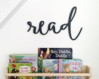 Read cutout | Kids bedroom decor | Nursery wall decor | Playroom wall hanging