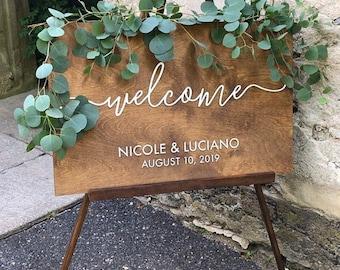 Wedding welcome sign | Wedding decor | Wedding welcome sign wood | Rustic wedding decor | Wedding date sign | Wooden wedding decor