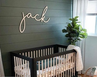 Baby name sign cutout | Name cut out | Personalized name sign | Above the crib sign | Large custom name sign | large baby name sign