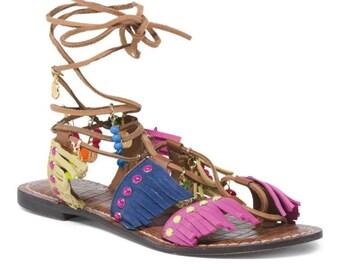 047c9a88379f61 NIB Sam Edelman fringe gladiator sandals size 6.5
