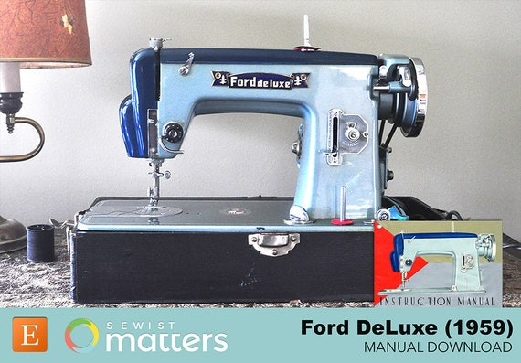 ford deluxe sewing machine 1959 manual pdf download etsy rh etsy com Sears Kenmore Sewing Machine Sears Kenmore Sewing Machine