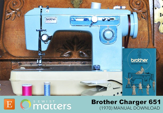 Vintage Brother 40 Sewing Machine Manual PDF Download Etsy Simple Brother Charger 651 Sewing Machine Manual