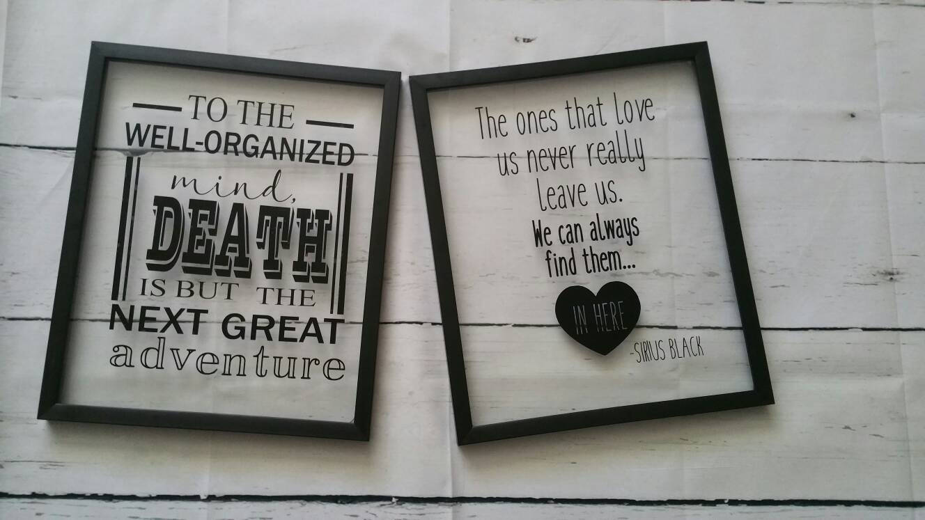 8x10 Harry Potter Inspired Memorial Quote Floating Frame Etsy