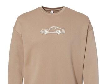 Vintage Porsche 911 Crewneck, Embroidered Sweatshirt, Unisex, valentines day, Birthday, Fathers Day, gift, Bridesmaid, vintage car