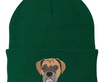 Custom  PET Beanie - Hand Drawn Art and Embroidered from your pet's photo, Dog Dad, Dog Mom, Pet Lovers, Birthday, Easter, Father's Day