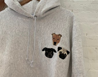 Your IMAGE Hoodie -- Embroidered Company Logo, Cat Image, Dog Image, Pet Image, Personalized, Gift, Easter, Dog Dad, Dog Mom
