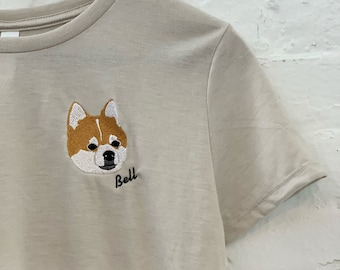 Custom IMAGE Crop Top, Embroidered Pet, Company Logo, Personalized, Best Friend, Birthday, Mother's Day, Easter Gift