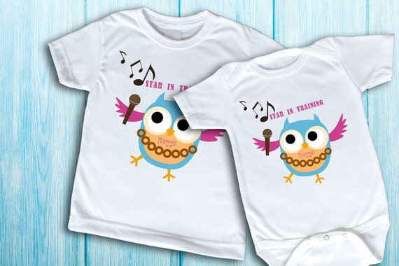Big Sister Little Sister t-shirts fun shirt for kids name shirt and onesie girls top t-shirt for girls cute owl shirt custom t-shirt