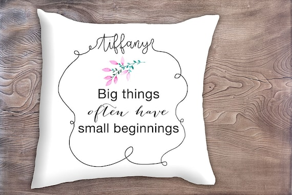 Decorative Pillow With Inspirational Quote Birthday Gift For Etsy Beauteous Teenage Decorative Pillows