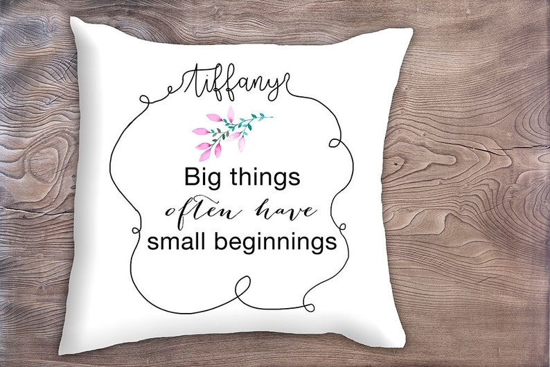 Decorative Pillow Cover With Inspirational Quote Birthday Etsy