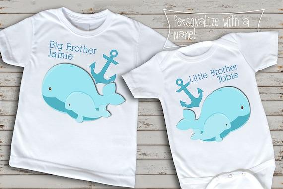 Personalizzata DINOSAURO T Shirt Big Brother T Shirt FRATELLO Custom