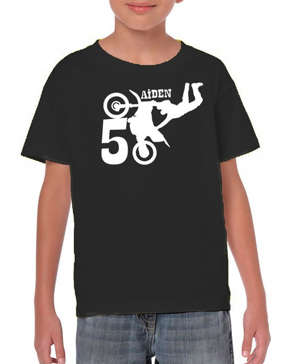 Dirt Bike Shirt Birthday T Custom
