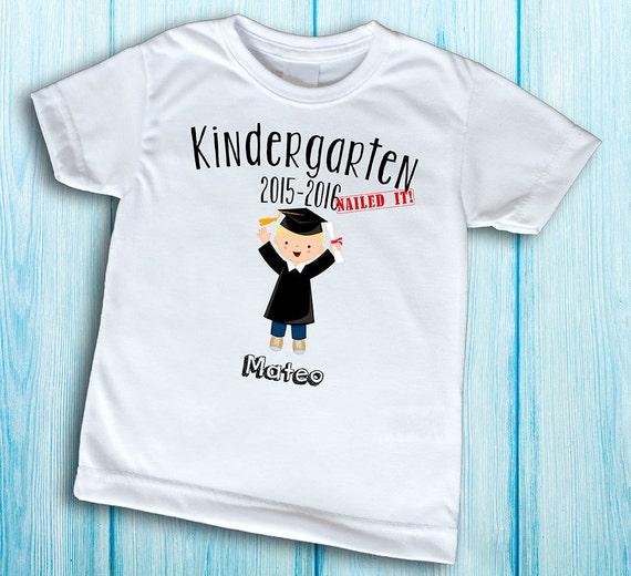 Kindergarten Nailed It T Shirt Customized Kindergarten Etsy