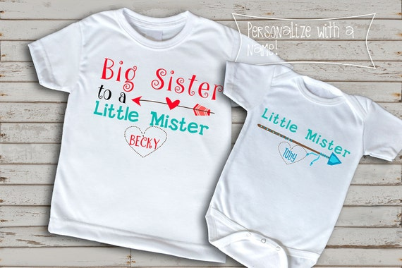 I Love My Big Bro Personalised Baby Toddler T Shirt Kids Funny Gift Cute