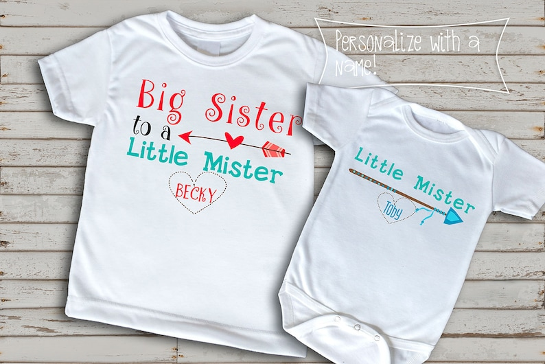 4ce18a25 Big Sister Little Brother t-shirts t-shirt for siblings fun | Etsy