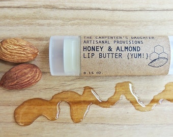 Honey & Almond Lip Butter - Chapstick, Lip balm