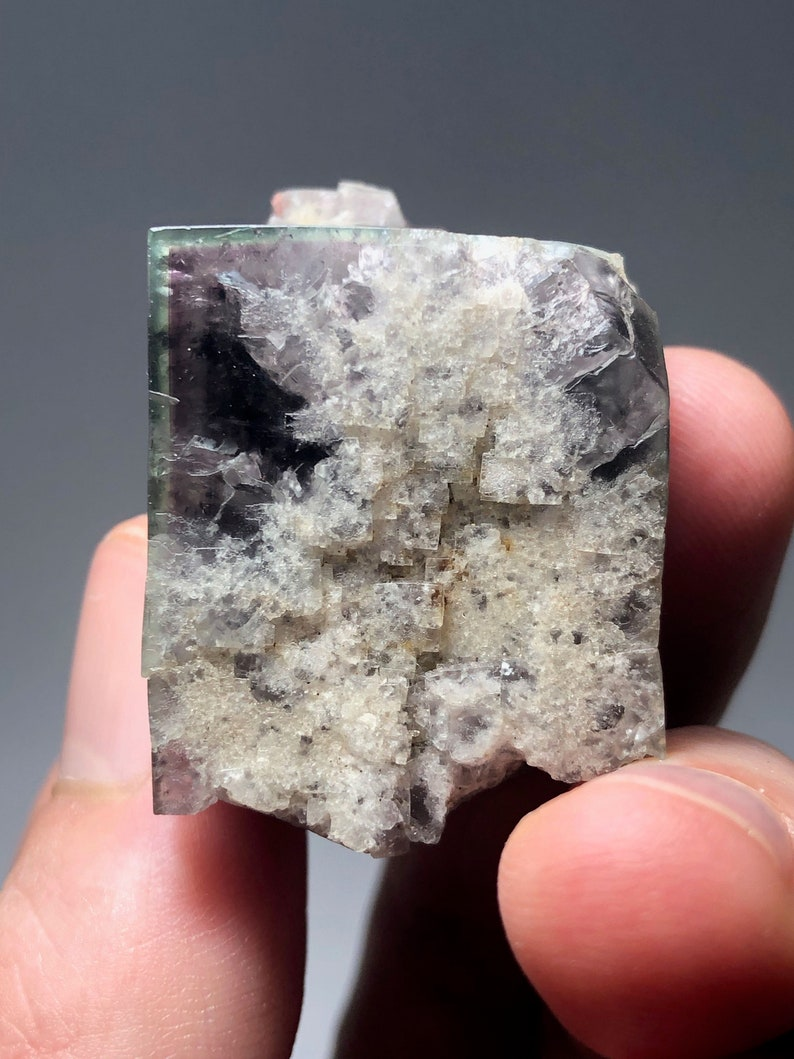 Daylight Fluorescent Cube Color Changing Cubic Fluorite Crystal Diana Maria