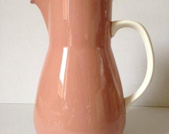 Wedgewood Coffee Pot, Pink Coffee Pot, Retro Coffee Pot, Vintage Coffee Pot, Ceramic Coffee Pot, Wedgewood of Etruria, Etruria  Barlaston