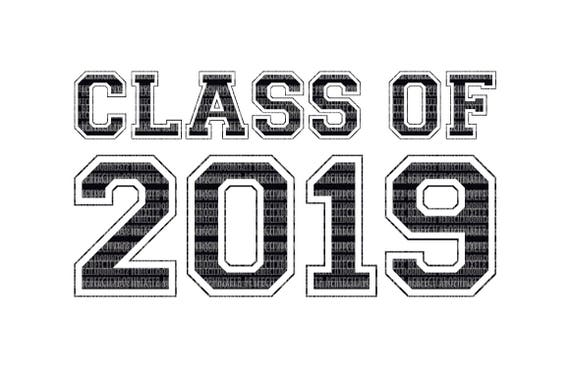 Class of 2019 SVG Printable Clipart Graduation Cut File Scrapbooking  Template Stencil Highschool Senior Silhouette Cricut Design Space