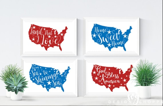 4th Of July Svg Files Land That I Love God Bless America Etsy