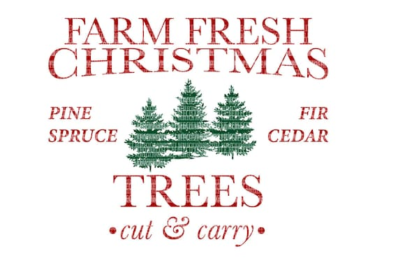Farm Fresh Christmas Trees Svg.Farm Fresh Christmas Trees Svg Files For Silhouette And Cricut Design Space Christmas Cut File Printable Transfer Decal Dxf Commercial Use