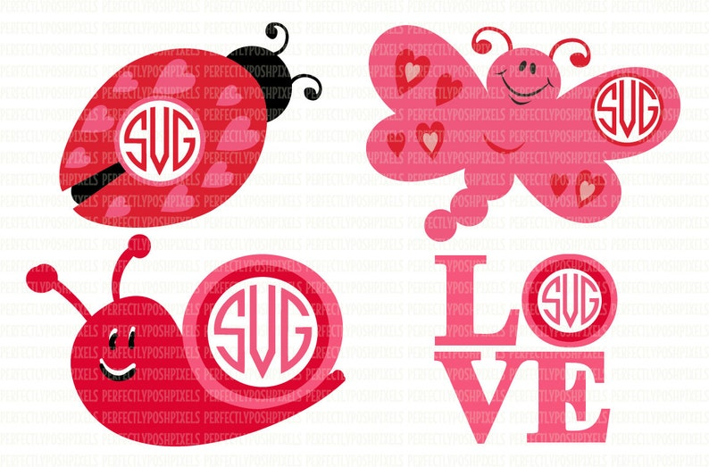 Valentine/'s Monogram Frame SVG DXF EPS Iron On Silhouette Designer Edition Circuit Design Space Vinyl Heat Transfer Vinyl Commercial Use Ok
