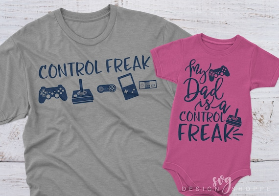 Control Freak Svg Video Game Svg Dad Fathers Day Svg Video Etsy