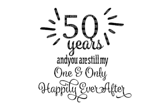 50th Anniversary Svg Files For Silhouette Cameo And Cricut