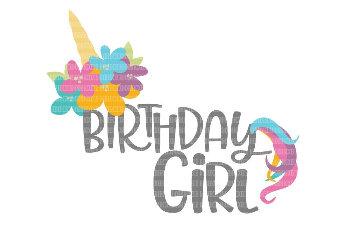 Einhorn Geburtstag Svg Geburtstagskind Svg Svg Fur Circut Etsy