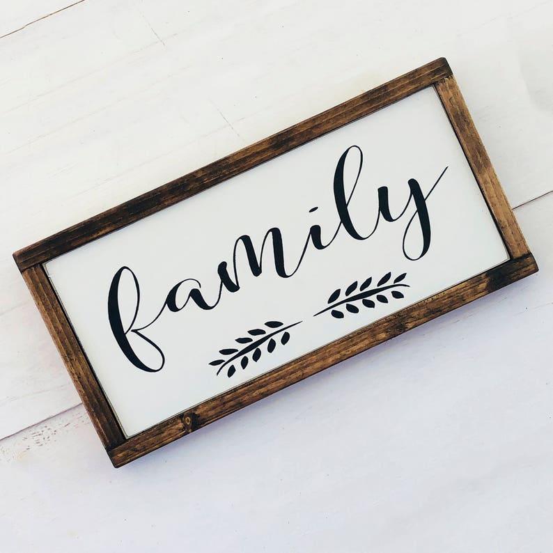 Family Sign Wood Framed
