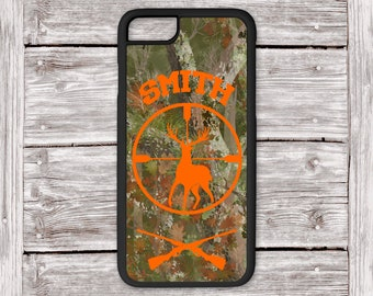 Camouflage iPhone Case for Men, Hunter Gifts, Camo Phone Case, iPhone Case for Boy, Deer Phone Case iPhone 8 Plus Camo Case, Gift for Dad