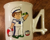 Cabbage Patch childs mug 4 birthday sailor boy G.A.A. Inc 39 85 Edition made in Japan abt 3 quot