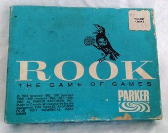 Le jeu des jeux de tour par Parker Bros, 1963, bilingue, quatre fonction de jeu de cartes numériques
