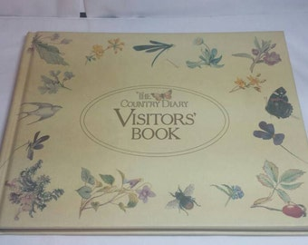 Vintage Visitors Sign In Book