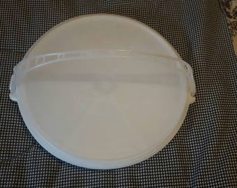Tupperware Divided Tray Made in Canada Vintage with Lid and Handle Veggies Chips and Dip