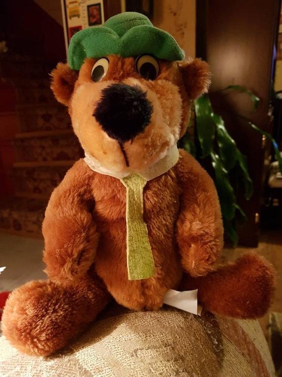 1980 Hanna Barbara Yogi Bear 11  plush bear by Mighty Star