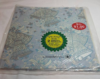Vintage Wedding Gift Wrap Wedding Bells Wrapping Paper 1980s