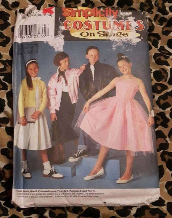 Simplicity Costumes on Stage 8878 1950s Grease Movie Sewing Patterns ...