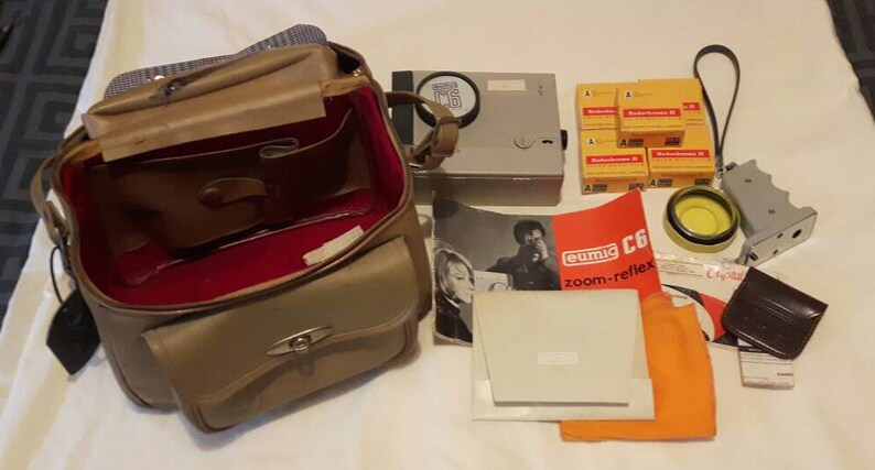 Vintage InEtsy 8mm Zoom Reflex Movie Eumig C6 Made Double Camera 2YIEWDH9e