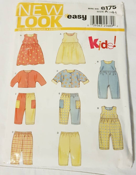 New Look easy Kids 6175 sewing pattern for infant/toddler | Etsy
