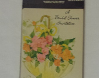 Bridal Shower Invites Sealed Pack of 9 cards with Envelopes 1970s