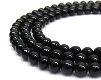 Black Onyx, 8mm Beads, Black Onyx Beads, 8mm Gemstone Beads, 6mm Beads, Black Beads, 8mm Black Beads, 8mm Round Beads, 6mm Gemstones Beads