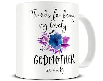 Personalized Godmother Mug Gift Thank You Coffee Custom Birthday MG725