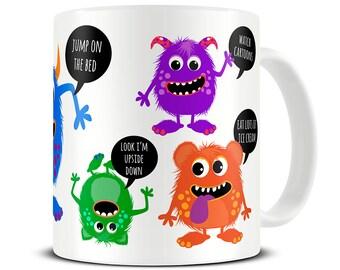 Naughty Monsters Mug Funny Childrens Mug Nephew Birthday Gift Niece Birthday Nephew Gift Kids Birthday Gift Funny Birthday Mug MG745  sc 1 st  Etsy & Kids birthday gift | Etsy