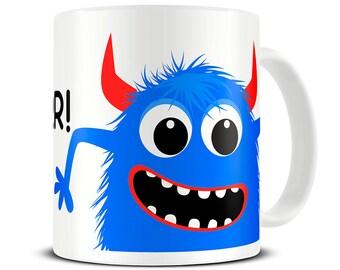 30db5b79002 Personalised Monster Mug, Childrens Mug, Gift for Son, Boys Mug, Gift for  Boys, Personalized Kids Mugs, Childrens Mugs Personalised, MG744