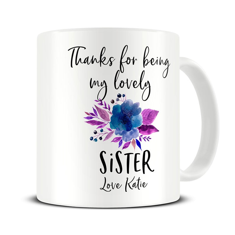 Sister Gift Mug Thank You Personalised