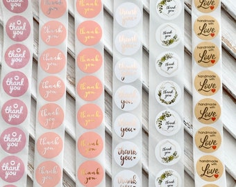 30 Thank you stickers in pink gold wedding gift thank you sticker sticker rosé gold idea handmade packaging.