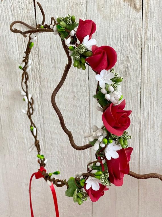 Rose Flower Crown Romantic Berries